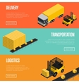 Delivery logistics and transportation banners set vector image vector image