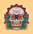 dia de muerto summer skull vector image vector image