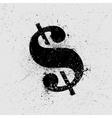 Dollar symbol grunge vector image