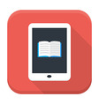 E book app icon with long shadow vector image vector image
