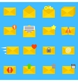 Envelope icons set vector image vector image