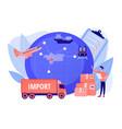 export control concept vector image vector image
