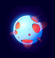 fantastic space planet for ui galaxy game vector image vector image