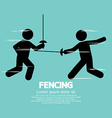 Fencing Sport Sign vector image vector image