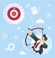 flat businessman aimming target concept vector image