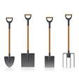 garden tool shovel 04 vector image vector image
