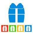gift box new year icon vector image