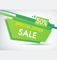 green sale shopping poster vector image vector image
