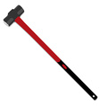Hammer red vector image vector image