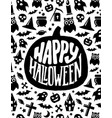 happy halloween banner scary design vector image vector image