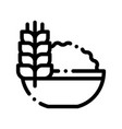 healthy food wheat spikelet thin line icon vector image