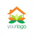 home yoga spa logo vector image vector image