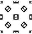 info folder pattern seamless black vector image vector image