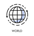 international world delivery isolated icon vector image vector image