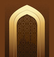 islamic doorway view arabian night vector image