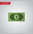 isolated dollar flat icon greenback vector image