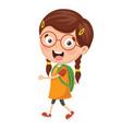 kid going to school vector image vector image