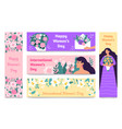 march 8 banners international womens day happy vector image vector image