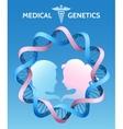 medicine genetics vector image
