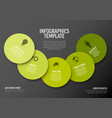 minimalist green infographic template vector image vector image