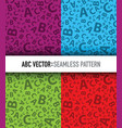 multicoloured abc letter background seamless vector image vector image