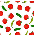 pattern with useful vegetables vector image vector image