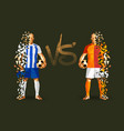 porto vs galatasaray soccer player holding vector image vector image