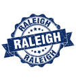 raleigh round ribbon seal vector image vector image