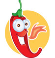 red chili pepper mascot vector image