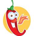 red chili pepper mascot vector image