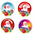 santa stickers vector image