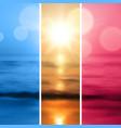 Sea sunset with the sun