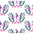 seahorse seaweed and shell embroidery seamless vector image