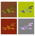 set of flat leaves logo template vector image vector image