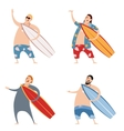 set surfers vector image