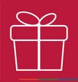 thin line gift box icon design vector image