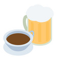 traditional drink icon isometric style vector image vector image