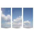 Triangular Clouds in the Sky Background Set vector image