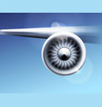 turbine engine jet for airplane with fan blades in vector image vector image