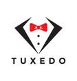 tuxedo logo design inspiration vector image