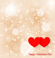 Two hearts soft background bokeh Greetings Happy vector image vector image