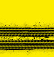 two tire track yellow vector image