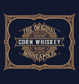 whiskey design for label and packaging vector image vector image