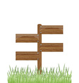 Wooden sign on a grass vector image vector image