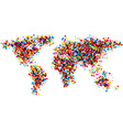 World abstract map vector image vector image