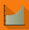 business diagram icon flat vector image