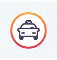 taxi cab line icon vector image