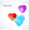 Watercolor beautiful hearts vector image