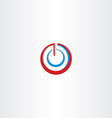power on off stylized symbol vector image