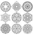 sacred geometry symbols - set 01 vector image